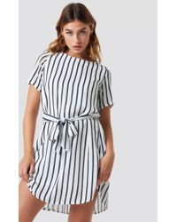 Sisters Point Lucy Dress Cream/stripe - Blue