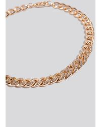NA-KD Matte Sparkling Chain Necklace - Metallic