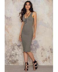 Passion Fusion Casual Bodycon Dress - Gray