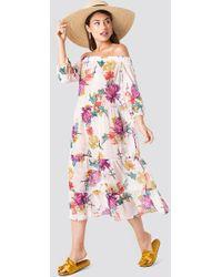 213300ac0b Jacquemus Sabah Linen Faux Wrap Maxi Dress in Natural - Lyst
