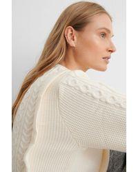 Mango Offwhite Overall Sweater - Multicolor