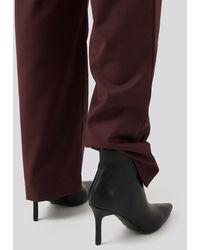 NA-KD Pointy Stiletto Boots Black