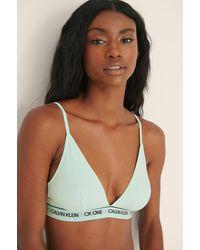 Calvin Klein Ck One Triangle Bra - Groen