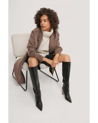 NA-KD Black Pointy Loose Shaft Boots
