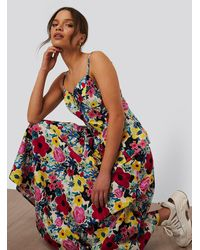 NA-KD Multicolor Flowy Skirt