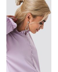 NA-KD - Sparkling Studded Drop Earrings - Lyst