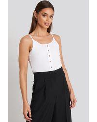 Trendyol Button Detailed Knitted Crop Top - Weiß