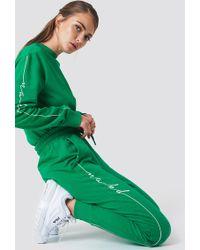 NA-KD Branded Sweatpants Green