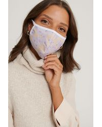 NA-KD White,purple,multicolor 3-pack Printed Face Masks