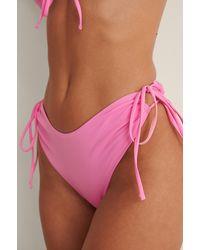 NA-KD Front Drawstring Bikini Top - Meerkleurig