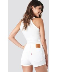 Levi's 501 High Rise Shorts White