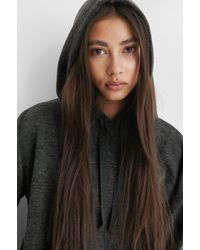 Mango Grey Maxime Sweatshirt - Black