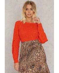 Trendyol - Cross Open Sleeve Sweater - Lyst
