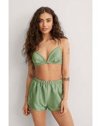 Mango Pyjama Shorts - Grün