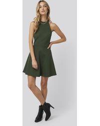 NA-KD Halter Neck Skater Dress - Groen