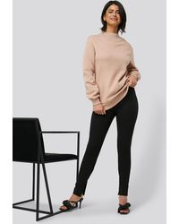 NA-KD Black Slit Trousers