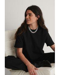 NA-KD Tee-Shirt Surdimensionné - Noir