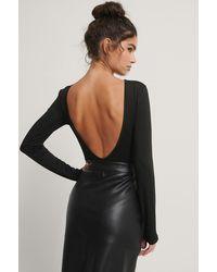 Trendyol Body Met Open Rug - Zwart