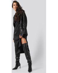 NA-KD Sequin Blazer - Zwart