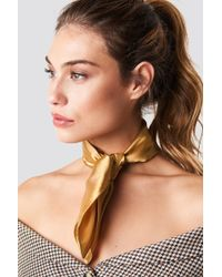NA-KD - Solid Satin Scarf Gold - Lyst