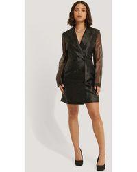 NA-KD Organza Blazer Dress - Noir