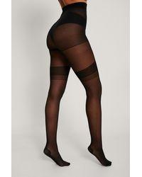 NA-KD Gerecycleerd Lange Legging - Black - Zwart