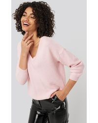 Trendyol V-neck Sweater - Roze