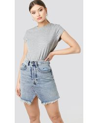 Cheap Monday Shrunken Skirt - Blau