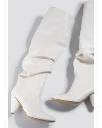 Trendyol Taka Women Knee Boots White
