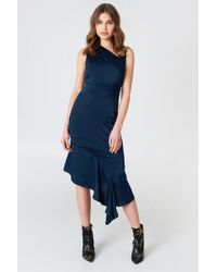 Lavish Alice - Asymmetric Midi Dress - Lyst