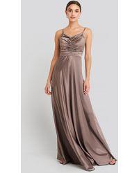 Trendyol Neckline Detailed Evening Dress - Paars