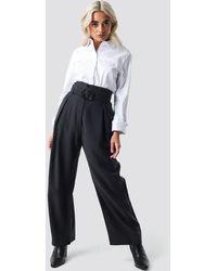 Mango Bag Trousers - Zwart