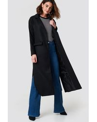 Trendyol Milla Long Coat Black