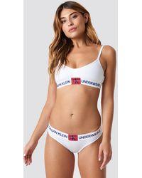 Calvin Klein Monogram Bikini Panties BP - Weiß
