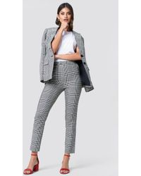 NA-KD - High Waist Chequered Suit Pant - Lyst