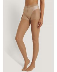 NA-KD Nude Recycled Tights 30 Den 2-pack - Natural