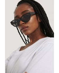 NA-KD Drop Shaped Cateye Sunglasses - Zwart
