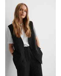 NA-KD Black Striped Oversized Vest