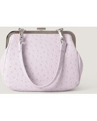 NA-KD Ostrich Look Clasp Bag - Paars
