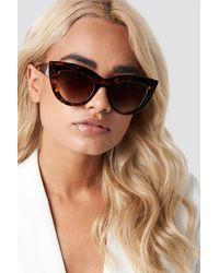 NA-KD Chunky Pointy Cat Eye Sunglasses - Bruin