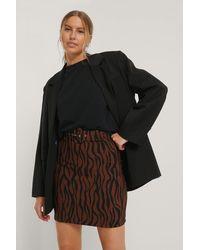 Trendyol Brown Black Check Belted Mini Skirt
