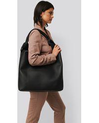 NA-KD Black Knotted Hobo Bag