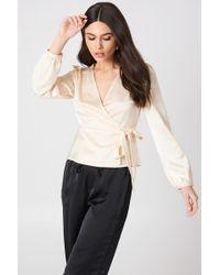 Glamorous - Tie Overlap Blouse - Lyst