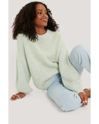 NA-KD Blue Multi Color Knitted Sweater