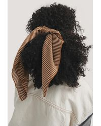 NA-KD Accessories Big Fine Striped Satin Scarf - Mehrfarbig