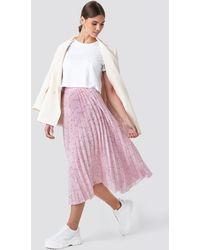 NA-KD Midi Pleated Skirt - Roze