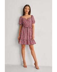 Trendyol Mini-jurk Met Bloemenprint - Rood
