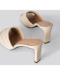 NA-KD Shoes Quilted Heeled Mules - Natur