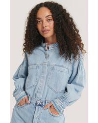 Mango - Blue Edited Shirt - Lyst