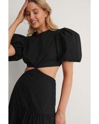 NA-KD Cut-out Maxi-jurk - Zwart